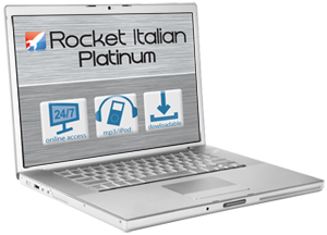 Rocket Italian on Laptop