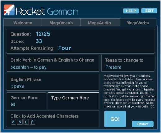 Rocket German Premium MegaVerbs