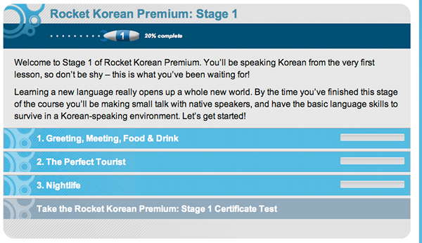Rocket Korean Premium Stage 1