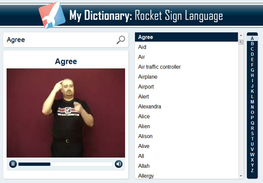 Rocket Sign Language Premium Dictionary